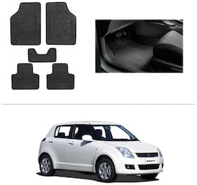 AutoSun Heavy Quality Set of 5 Carpet Black Car Foot Mat / Car Floor Mat Maruti Suzuki Swift