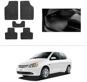 AutoSun Heavy Quality Set of 5 Carpet Black Car Foot Mat / Car Floor Mat Tata Indigo Cs