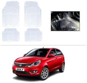 AutoSun Heavy Quality Transparent White Car Floor Mats Set Of 4 For Honda Civic