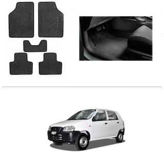 AutoSun Heavy Quality Set of 5 Carpet Black Car Foot Mat / Car Floor Mat Maruti Suzuki - Alto (Old)