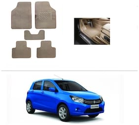 AutoSun Heavy Quality Set of 5 Carpet Beige Car Foot Mat / Car Floor Mat Maruti Suzuki Celerio