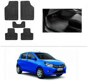 AutoSun Heavy Quality Set of 5 Carpet Black Car Foot Mat / Car Floor Mat Maruti Suzuki Celerio