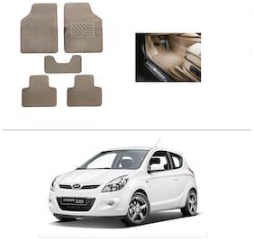 AutoSun Heavy Quality Set of 5 Carpet Beige Car Foot Mat / Car Floor Mat Hyundai I20