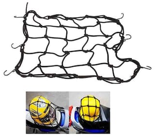 AutoSun High Quality Bike Motorcycle/Cycle/Scooter Cargo Bungee Net (Black)