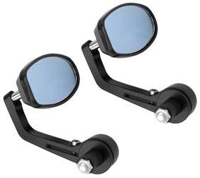 AutoSun Oval Rear View Mirror for Bikes (Black) For Yamaha SZ-RR
