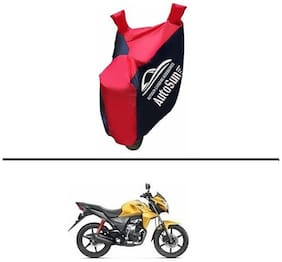 AutoSun Pearl imported Fabric Bike Body Cover BLUE & RED for - Honda CB Twister