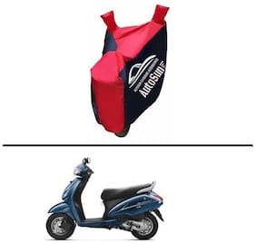 AutoSun Pearl imported Fabric Bike Body Cover BLUE & RED for - Activa 3G