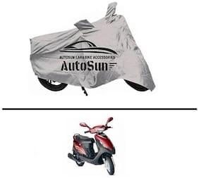 AutoSun Premium Quality Bike Body Cover Silver for - Mahindra Kine