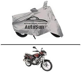 AutoSun Premium Quality Bike Body Cover Silver for - Bajaj Discover 125 DTS-I