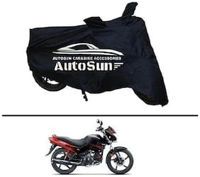 AutoSun Premium Quality Bike Body Cover Black for - Hero Glamour