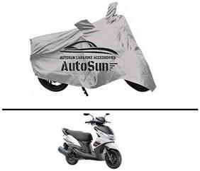 AutoSun Premium Quality Bike Body Cover Silver for - YAmaha Ray z