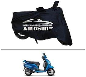 AutoSun Premium Quality Bike Body Cover Black for - Hero Maestro