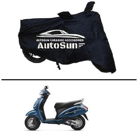 AutoSun Premium Quality Bike Body Cover Black for - Activa 3G