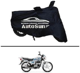 AutoSun Premium Quality Bike Body Cover Black for - Hero Splendor Plus