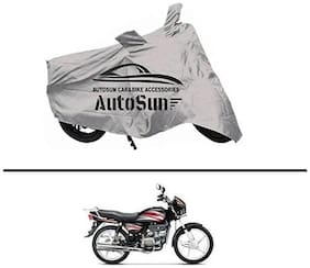 AutoSun Premium Quality Bike Body Cover Silver for - Honda Splendor NXG