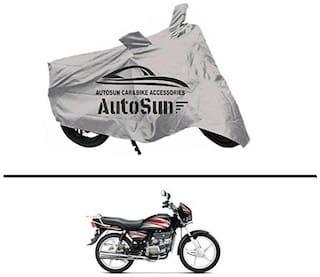 AutoSun Premium Quality Bike Body Cover Silver for - Honda Splendor NXG