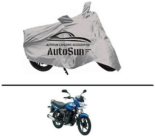 AutoSun Premium Quality Bike Body Cover Silver for - Bajaj Platina 100 DTS-I