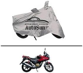 AutoSun Premium Quality Bike Body Cover Silver for - Honda CBF Stunner
