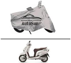 AutoSun Premium Quality Bike Body Cover Silver for - Honda Aviator