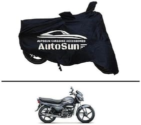 AutoSun Premium Quality Bike Body Cover Black for - Hero Super Splendor
