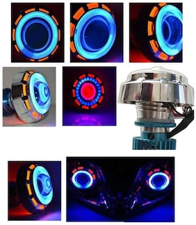 AutoSun Projector Lamp cooling Fen Led headlight Lens projector For - All Bikes