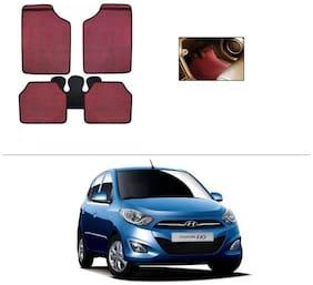 AutoSun Red Odourless Car Floor/Foot Mat Set Of 5 Hyundai I10