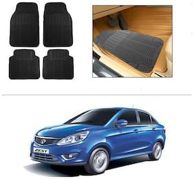 AutoSun Rubber Car Floor / Foot Mats Black For Tata Zest