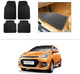AutoSun Rubber Car Floor / Foot Mats Black For Hyundai Grand I10
