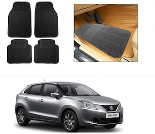 AutoSun Rubber Car Floor / Foot Mats Black For Maruti Suzuki Baleno