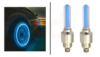 AutoSun Set of 2 Blue Tyre Led Lights With Motion Sensor