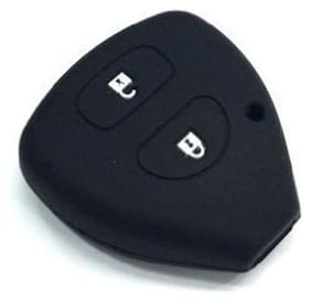 AutoSun Silicone Key Cover For Toyota 2 Fortuner Button Remote Key