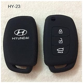 AutoSun Silicone Flip Key Cover for Hyundai i20 (igen) / New verna / Xcent (Only For Flip Key)