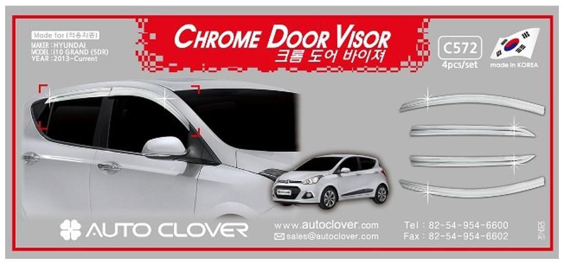 https   assetscdn1.paytm.com images catalog product . Autotrends Auto  Clover Chrome Window Door Sun Visor For Hyundai i10 ... bcd3e134059