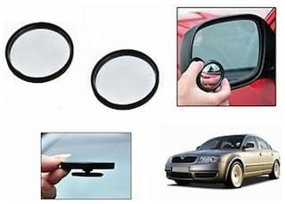 Autotrends Convex Wide Angle Blind Spot Mirrors(Size 50 Mm)