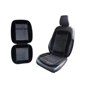 Autowheel Premium Universal Car Wooden Bead Seat Cover For All Cars Black Color & Free Car Perfume