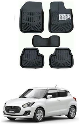 AYW 4D Car Mat For Maruti Suzuki New Swift Black Color