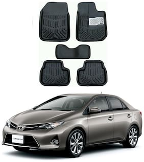 AYW 4D Car Mat For Toyota Corolla Black Color