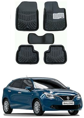 AYW 4D Car Mat For Maruti Suzuki Baleno Black Color
