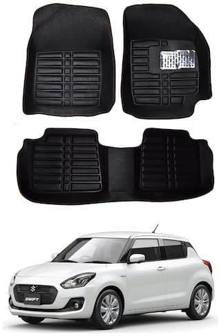 AYW 5D Mat Car For New Swift Black Color