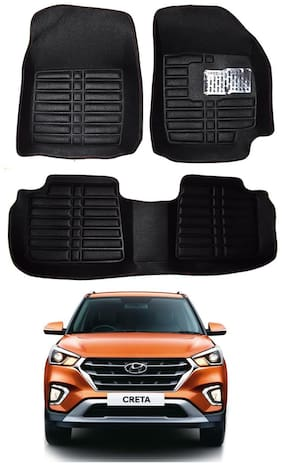 AYW 5D Mat Car For Creta Black Color