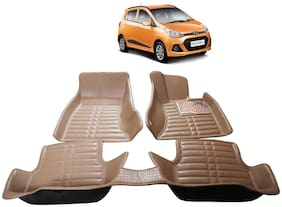 AYW 5D Mat Car For Grand i10 Beige Color