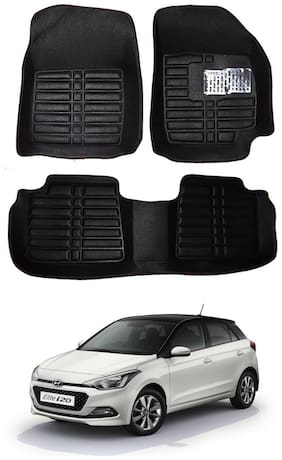 AYW 5D Mat Car For i20 Black Color
