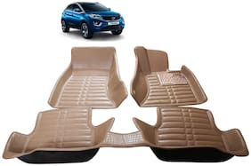 AYW 5D Mat Car For Nexon Beige Color
