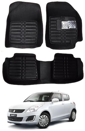 AYW 5D Mat Car For Swift Black Color