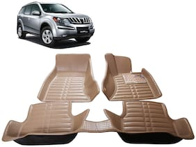 AYW 5D Mat Car For XUV 500 Beige Color