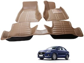 AYW 5D Mat Car For New Dzire Beige Color