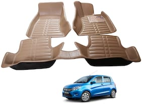 AYW 5D Mat Car For Celerio Beige Color