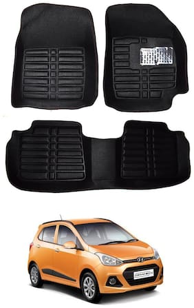 AYW 5D Mat Car For Grand i10 Black Color