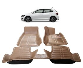 AYW 5D Mat Car For Polo GT Beige Color