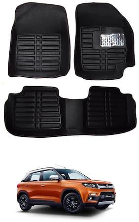 AYW 5D Mat Car For Vitara Brezza Black Color